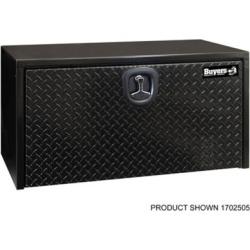 Buyers Products 18 in. x 18 in. x 36 in. Black Steel Underbody Truck Box with Aluminum Door