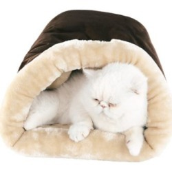 Armarkat Sleep Cat Bed, Soft Cave Bed for Dog and Cat, Mocha 22 in. x 14 in., C15HKF/MH