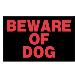 Hillman Beware Of Dog Sign; 8 in. x 12 in. found on Bargain Bro India from Tractor Supply for $0.99