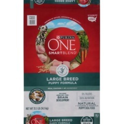 Purina ONE SmartBlend Large Breed Puppy Formula Puppy Premium Dog Food; 31.1 lb. Bag