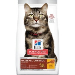 Hill's Science Diet Adult 7+ Hairball Control Chicken Recipe Dry Cat Food, 7 lb. Bag