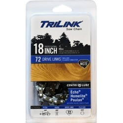 TriLink Saw Chain 18 in. Full Chisel Saw Chain; .325 in. Pitch; .050 in. Gauge; 72 DL