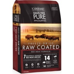 CANIDAE Grain Free PURE Ancestral Raw-Coated Red Meat Dog Food,9 lb. 1853