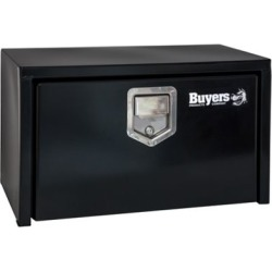 Buyers Products 14 in. x 16 in. x 24 in. Black Steel Underbody Truck Box with Paddle Latch