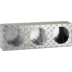 Buyers Products Triple Round Light Box, Diamond Tread Aluminum