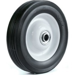 Martin Wheel 6X1.50 Light-Duty Steel Wheel, 1/2 in. BB, 1-3/8 in. Offset Hub, Rib Tread