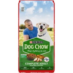 Purina Dog Chow Dry Dog Food, Complete Adult with Real Chicken - 48 lb. Bag
