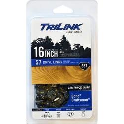 TriLink Saw Chain 16 in. Semi Chisel Saw Chain; 3/8 in. LP Pitch; .050 in. Gauge; 57 DL
