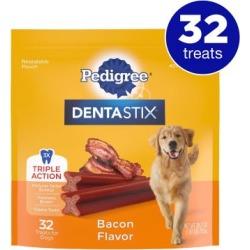 Pedigree Dentastix Bacon Flavor Treat, Large Dog, Pack of 32
