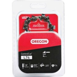 Oregon 18 in. Bar Saw Chain; 0.325 Pitch; 0.063 Gauge; Use 3/16 in. File; 74 Drive Links