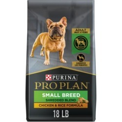 Purina Pro Plan Savor Adult Shredded Blend Small Breed Chicken & Rice Formula Dog Food; 18 lb. Bag