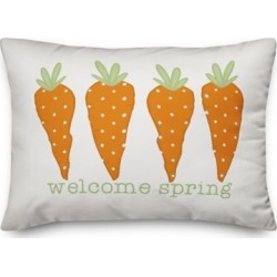 Designs Direct Spring Carrots 14 x 20 Throw Pillow
