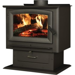 US Stove 2,000 sq. ft. Pedestal Wood Stove with Blower, US2000E-BP