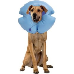 Remedy + Recovery Stay Rite Xtra Strong Inflatable Recovery Dog Collar; Blue; X-Large; 47505-9