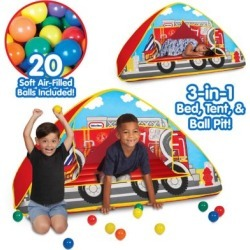 Little Tikes Fire Truck 3-in-1 Bed Tent & Ball Pit, 9424