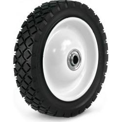 Martin Wheel 7X1.50 Light-Duty Steel Wheel, 1/2 in. BB, 2 in. Centered Hub, Diamond Tread