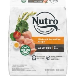 Nutro Wholesome Essentials Adult Dog Food, Chicken, Whole Brown Rice & Sweet Potato Formula, 30 lb.