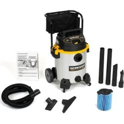 Workshop Stainless Wet/Dry Vac WS1600SS; 16-Gallon Stainless Steel Shop Vacuum Cleaner; 6.5-Peak HP Wet And Dry Vacuum