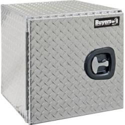 Buyers Products 18 in. x 18 in. x 18 in. Diamond Tread Aluminum Underbody Truck Box with Barn Door