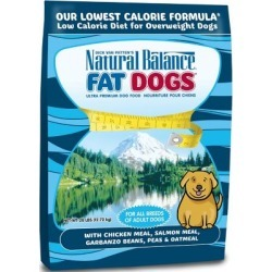Natural Balance Fat Dogs Chicken & Salmon Formula Low Calorie Dry Dog Food, 28 lb.
