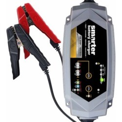 Smarter Tools 15A 12V/24V Battery Charger with Repair; Supply; and Engine Start Modes