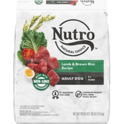 NUTRO WHOLESOME ESSENTIALS Natural Adult Dry Dog Food Lamb & Rice Recipe, 30 lb. Bag