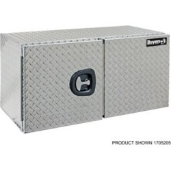 Buyers Products 24 in. x 24 in. x 48 in. Diamond Tread Aluminum Underbody Truck Box with Barn Door