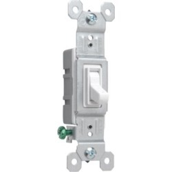 Pass & Seymour 15A 1-Pole Switch, White found on Bargain Bro Philippines from Tractor Supply for $1.99