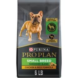 Purina Pro Plan with Probiotics Small Breed Dry Dog Food, SAVOR Shredded Blend Chicken & Rice Formula - 6 lb. Bag