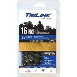 TriLink Saw Chain 16 in. Narrow Kerf Saw Chain; .325 in. Pitch; .050 in. Gauge; 66 DL