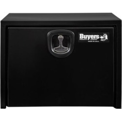 Buyers Products 18 in. x 18 in. x 24 in. Black Steel Underbody Truck Box with 3-Point Latch