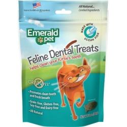 Emerald Pet Grain Free Ocean Fish Feline Dental Treats, 3 oz., SNT00404