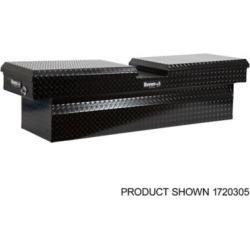 Buyers Products 18 in. x 27 in. x 71 in. Black Diamond Tread Aluminum Gull Wing Truck Box, Lower Half 11 in. x 27 in. x 60 in.