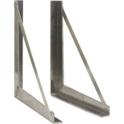 Buyers Products 24 in. x 24 in. Welded Aluminum Mounting Brackets