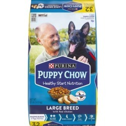 Purina Puppy Chow Large Breed Formula Dry Puppy Food; 32 lb. Bag