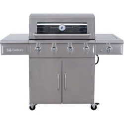 3 Embers 4-Burner Gas Grill with Radiant Embers Cooking System