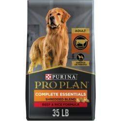 Purina Pro Plan with Probiotics, High Protein Dry Dog Food, Shredded Blend Beef & Rice Formula - 35 lb. Bag