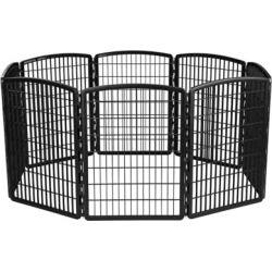IRIS USA 585613 34 in. Exercise 8-Panel Pet Playpen, Molded Plastic, Medium Breed
