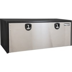 Buyers Products 24 in. x 24 in. x 60 in. Black Steel Truck Box with Stainless Steel Door