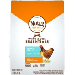 Nutro Indoor Cat Chicken Adult Dry Cat Food; 14 lb. Bag