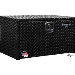 Buyers Products 18 in. x 18 in. x 36 in. Black Diamond Tread Aluminum Underbody Truck Box