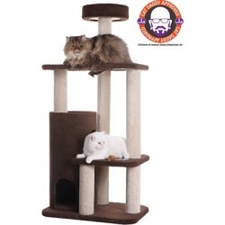 Armarkat 3-Level Carpeted Cat Tree Condo F5602, Kitten Playhouse Climber Activity Center, Brown, F5602