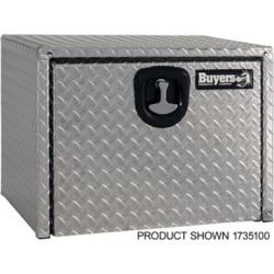 Buyers Products 18 in. x 18 in. x 36 in. Diamond Tread Aluminum Underbody Truck Box with 3-Pt. Latch