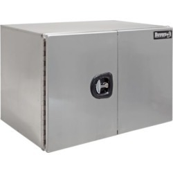 Buyers Products 18 in. x 24 in. x 48 in. XD Smooth Aluminum Underbody Truck Box with Barn Door