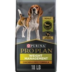 Purina Pro Plan Focus Adult Weight Management Formula Dog Food, 18 lb. Bag