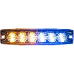 Buyers Products 5.14 in. Amber/Blue Surface Mount Ultra-Thin LED Strobe Light