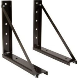 Buyers Products 18 in. x 18 in. Bolted Black Formed Steel Mounting Brackets