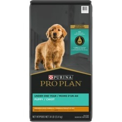 Purina Pro Plan FOCUS Chicken & Rice Formula Dry Puppy Food, 34 lb. Bag