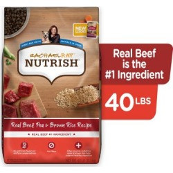 Rachael Ray Nutrish Real Beef and Brown Rice Recipe Natural Dry Dog Food, 40 lb.