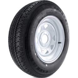 Kenda Karrier Radial Trailer Tire and 5-Hole Custom Spoke Wheel (5/4.5), 205/75R-15 LRC